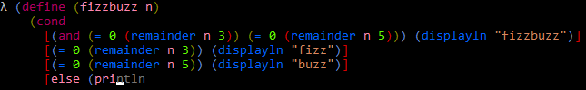 Fizzbuzz screenshot